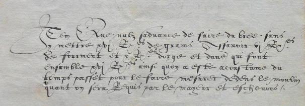 Uittreksel van de rekening van de Stadhal 1559. (c) ARA Brussel