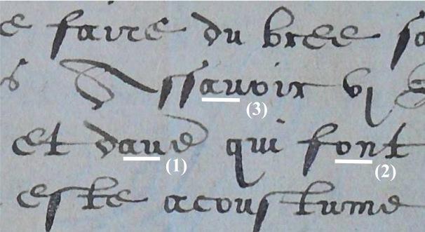 Uitvergroting van het handschrift. (c) ARA Brussel