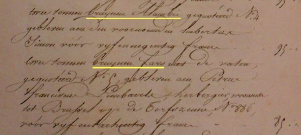 Uittreksel PV openbare verkoop notaris Morren Brussel 04.02.1817 ev.