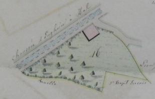 De huidige pakhuizen Boon langs de Edingense Steenweg 777A in 1837 : enkel weiland en een stal. Van een brouwerij nog geen enkel spoor. (c) Lambik1801